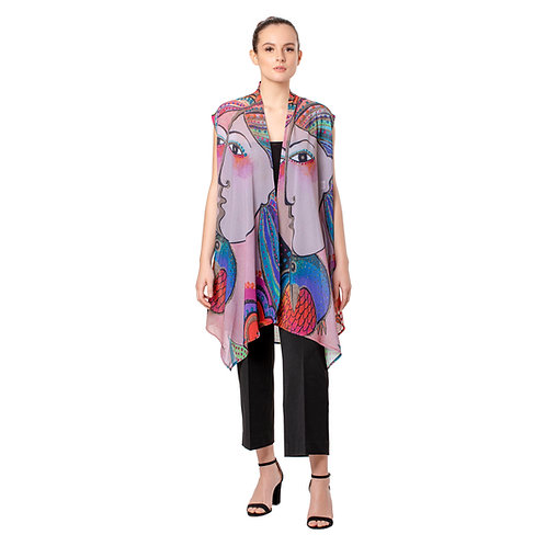 Laurel Burch Mikalya Sheer Long Vest