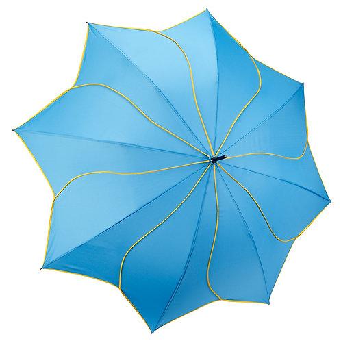 Aqua / Yellow Swirl Stick Umbrella