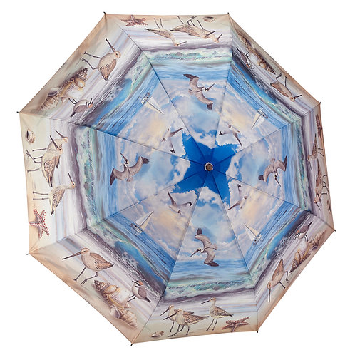 Beach Scene Folding Umbrella