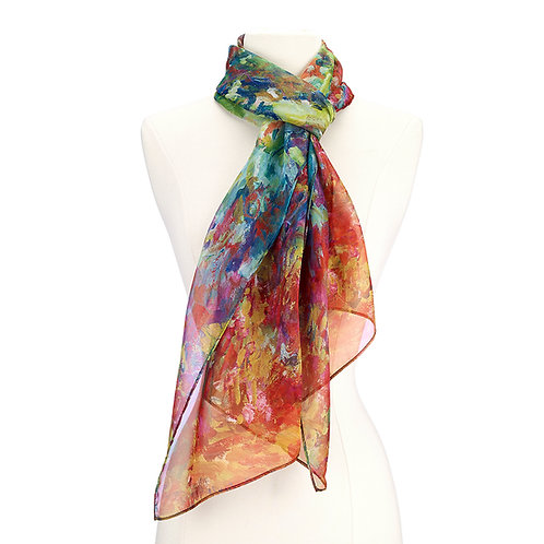 Monet, The Artist's House from the Rose Garden Scarf