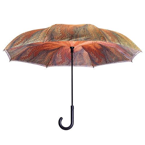 Dahlia Stick Umbrella Reverse Close