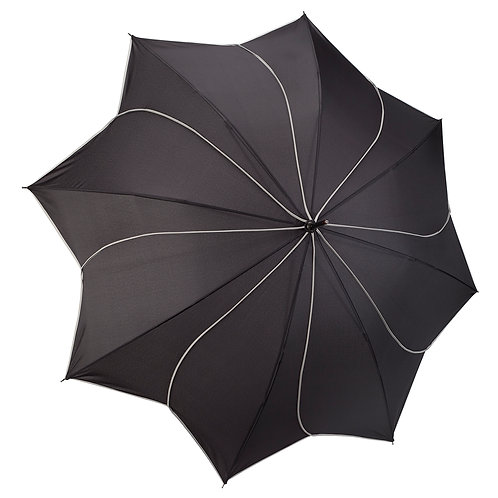 Black / Grey Swirl Stick Umbrella