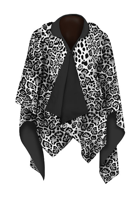 Leopard Skin Black & White RainCape