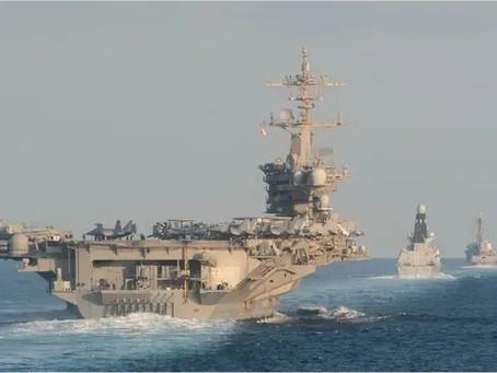 Ovnis et vaisseaux en mer