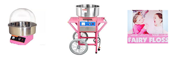 fairy floss machine for hire central coa
