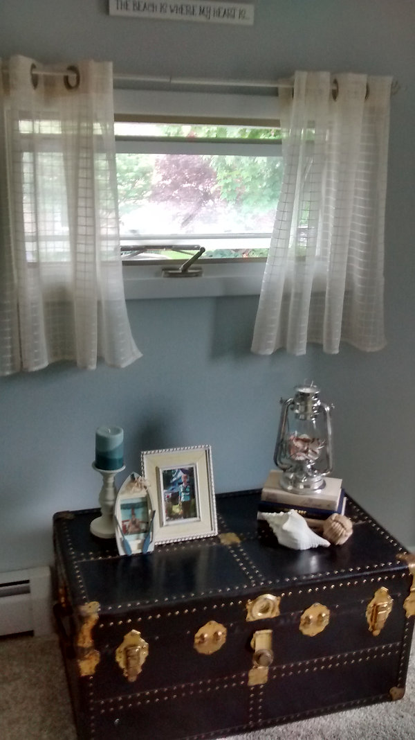 Lake Bedroom After; Beachy Theme Decor
