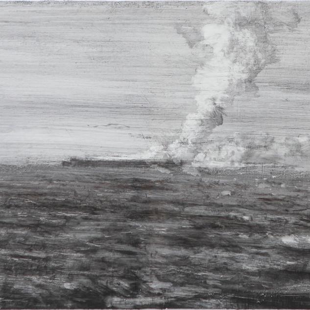 Portaaviones bombardeado
