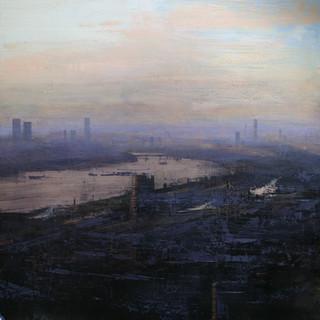 Vista de Londres en día de otoño a las seis de la tarde