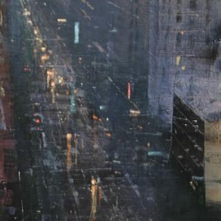 Calle de noche en Nueva York