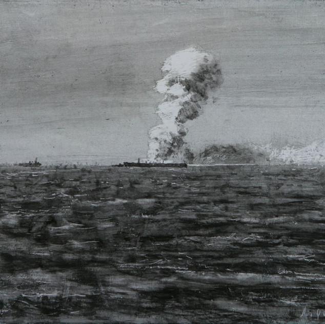 Incendio en el mar