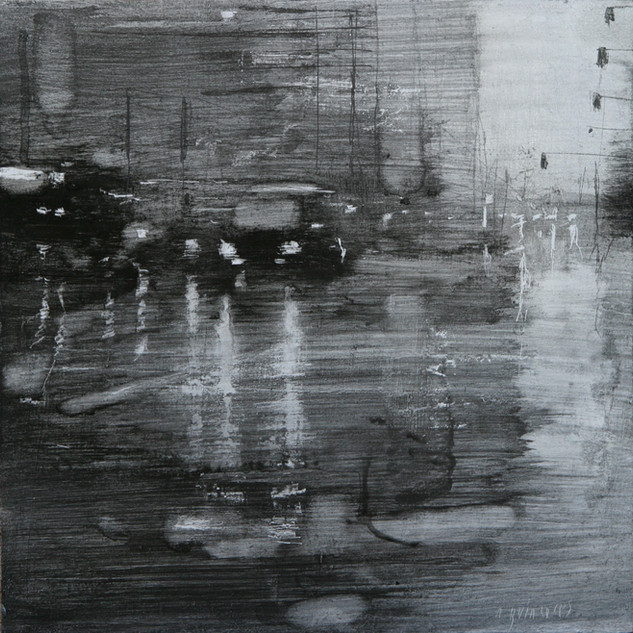 Lluvia en el asfalto