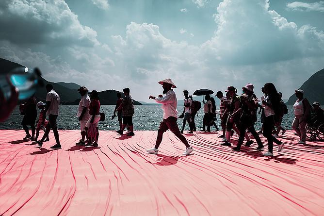 "Christo, eine Reise zum Lake Iseo ""Floating Piers"""