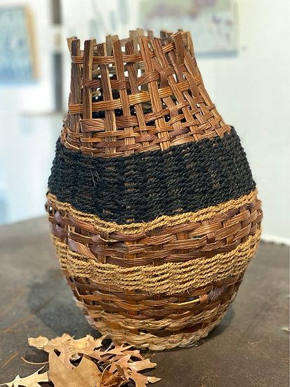 NURIT OPHIR STUDIOS - Twined Basket & black stripe