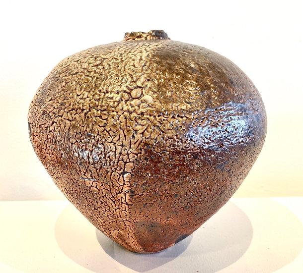 LISE EDWARDS - Wood Fired Shino Jar