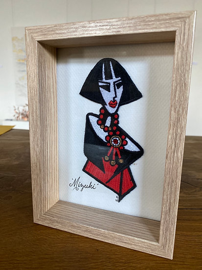 FULLERTON DESIGNS - Mizuki - framed embroidery
