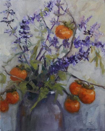 NATASHA DANILOFF - Salvias and Persimmons