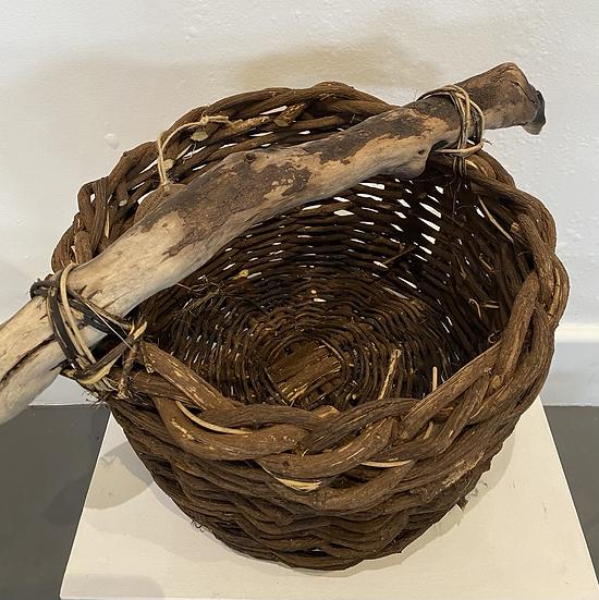 Round Coral Pea Log Basket