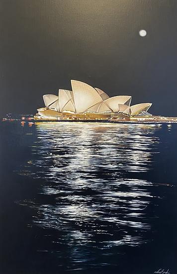USHA SINGH - Full Moon Over the Opera House