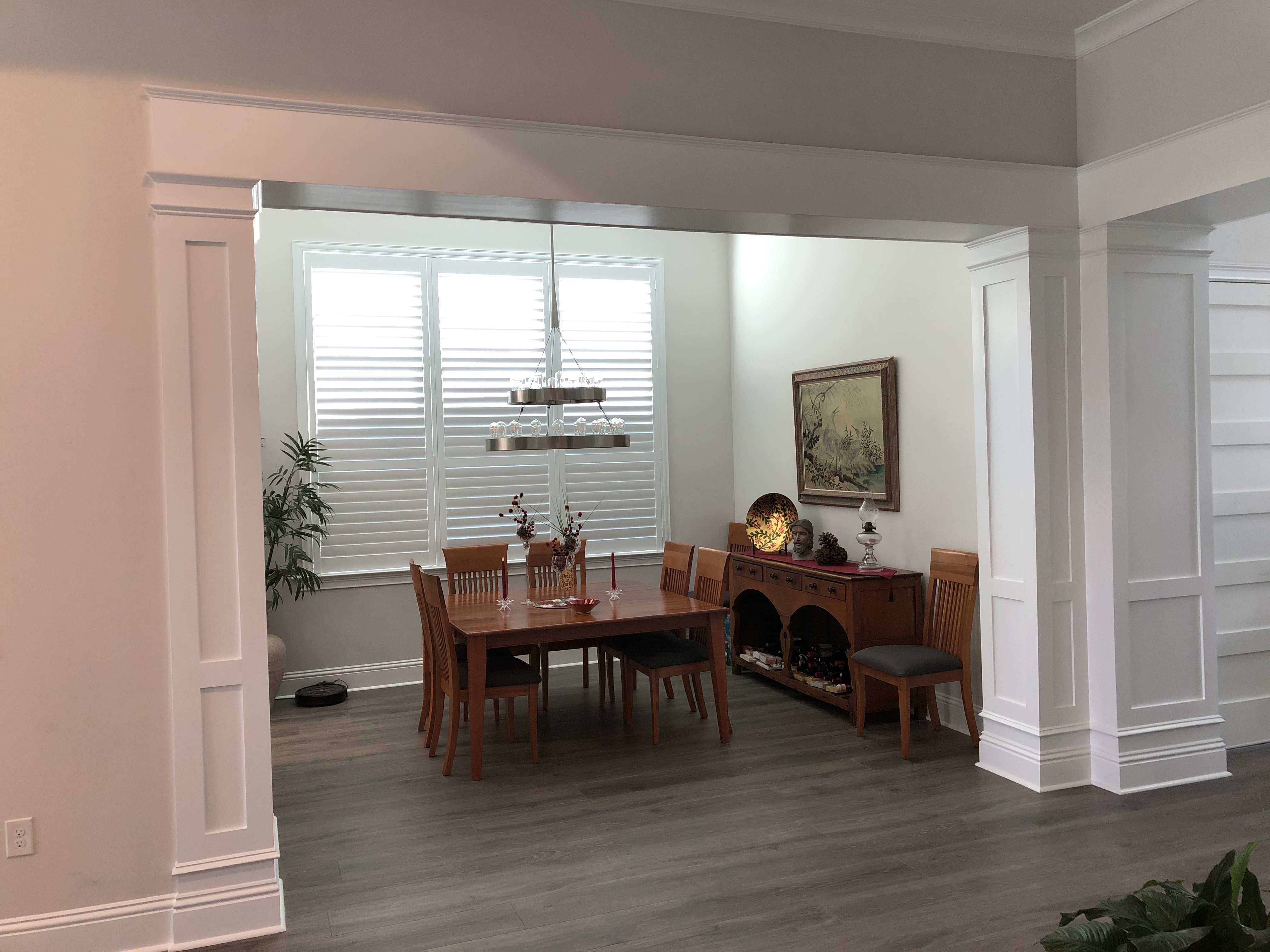 Dining Room Entrance Columns