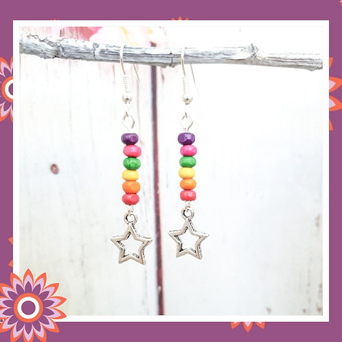 Star Rainbow Earrings