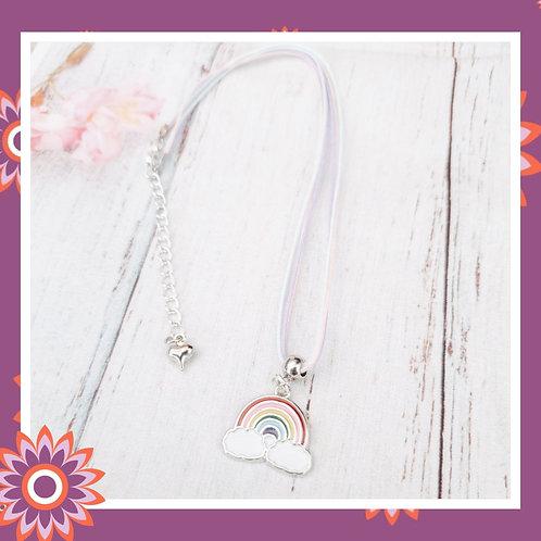 Child's Cord Rainbow Necklace