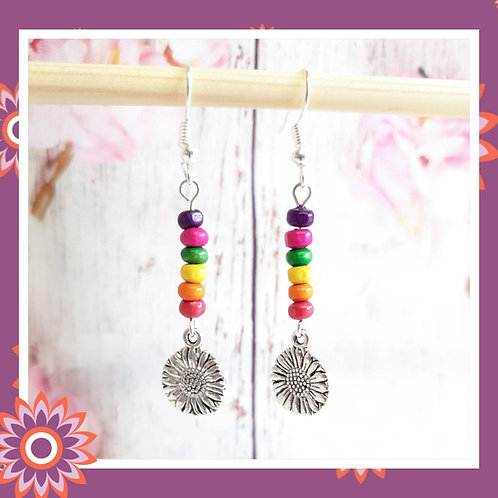 Sunflower Rainbow Earrings
