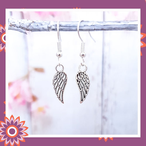 Filigree Angel Wing Earrings