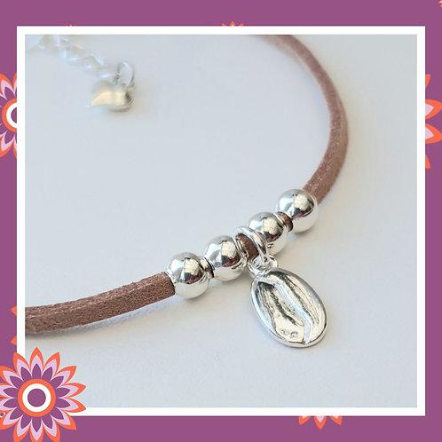 Coffee Bean Suede Bracelet