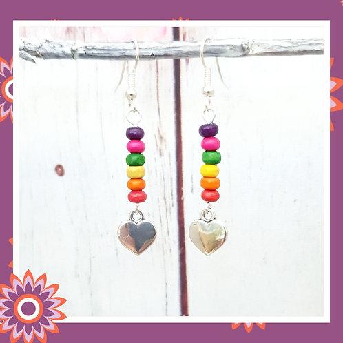 Heart Rainbow Earrings