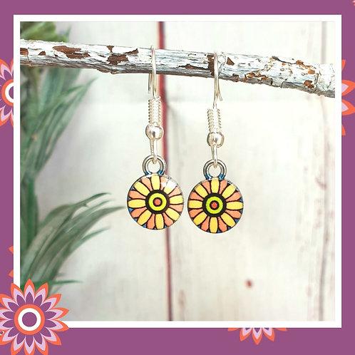 Mandala Flower Earrings