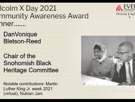 SCBHC President Awarded Malcolm X Day 2021 Community Awareness Award
