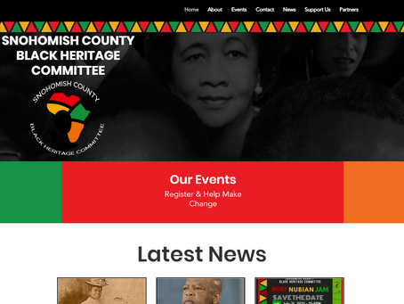 Snohomish County Black Heritage Committee Launches New Website