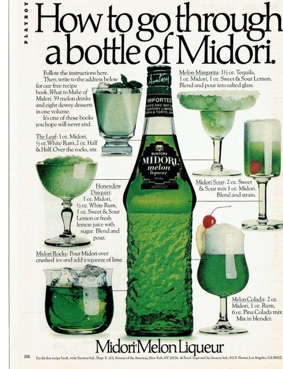 The History of Midori Liqueur - One of the Worlds most hated alcoholic products!