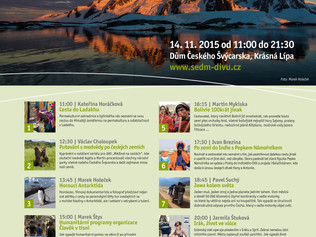Cestovatelský festival Sedm divů Sobota 14. listopadu 2016