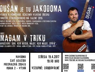 Dnešní klubová show DUŠAN je tu JAKODOMA je připravena.