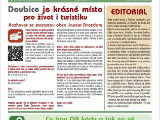 Noviny PIN ( neboli špendlík) letní čtení Infocentra Doubice