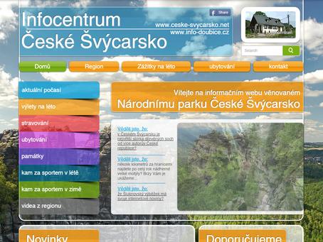 Informační web Českého Švýcarska na nové doméně s novým designem