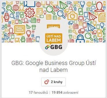 Víte, že už i ÚSTÍ NAD LABEM má Google Business Group?