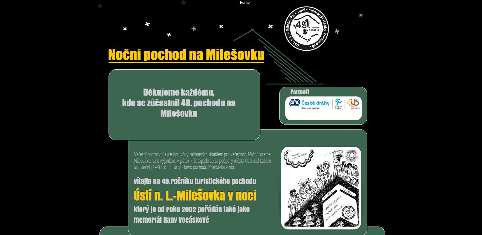 Noční pochod na Milešovku