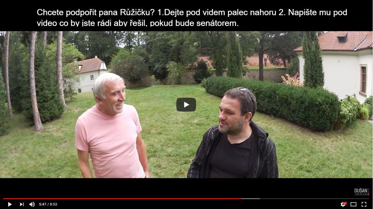 Podpora senátora Jiřího Růžičky