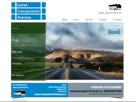 Předán nový web SPOLEK TRANSPARENTNÍ DOPRAVY
