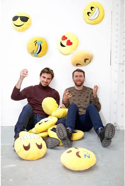 PiotrKrzymowski and Mateusz Kozieradzki in Piotr's London studio Photograph: Dawid Lewandowski