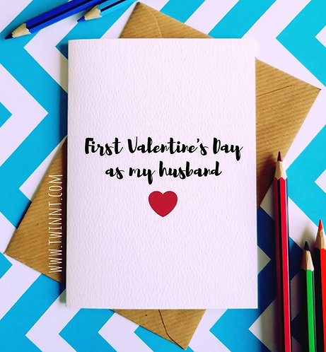 First Valentine's Day as my husband