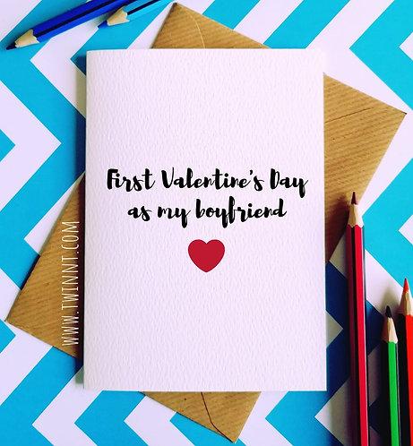 First Valentine's Day as my boyfriend