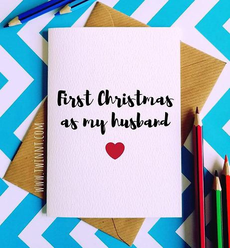 First christmas as my husband