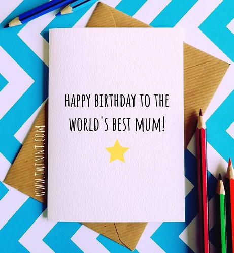 Happy birthday to the world's best Mum!