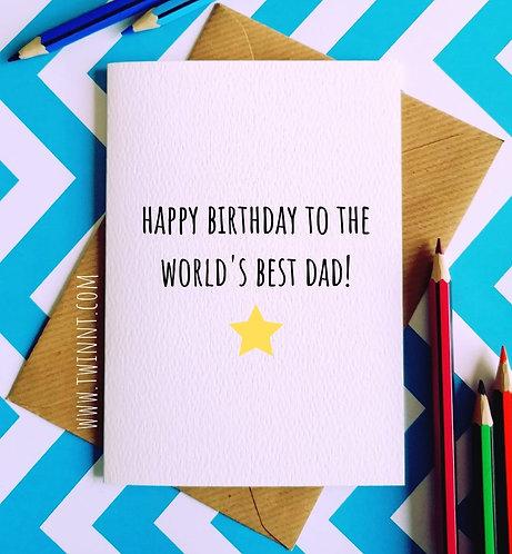 Happy birthday to the world's best Dad!