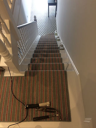 Carpet stair runner by NFS Flooring