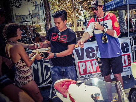 Ivory Comet won Best Café racer at VVMC Motorcycle Rally