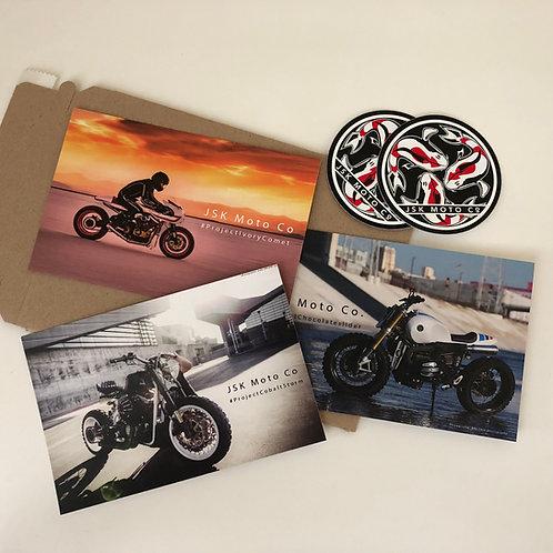 JSK Postcard Sticker Set